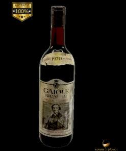 vin vechi Chianri Gaiole 1970